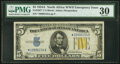 Small Size:World War II Emergency Notes, Fr. 2307* $5 1934A North Africa Silver Certificate Star. P...