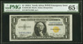 Small Size:World War II Emergency Notes, Fr. 2306 $1 1935A North Africa Silver Certificate. PMG Gem...