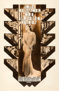 """Our Blushing Brides (MGM, 1930). Fine- on Linen. Rotogravure One Sheet (27.75"""" X 42.25"""")"""