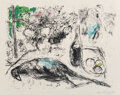 Prints & Multiples, Marc Chagall (1887-1985). Le Faisan, 1966. Lithograph in colors on Arches paper. 23 x 29-3/4 inches (58.4 x 75.6 cm) (sh...