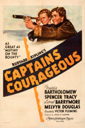 """Movie Posters:Adventure, Captains Courageous (MGM, 1937). Fine+ on Linen. One Sheet (27.25"""" X 41"""") Style C.. ..."""