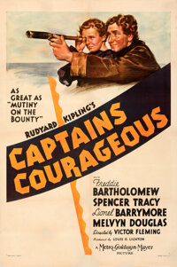 """Captains Courageous (MGM, 1937). Fine+ on Linen. One Sheet (27.25"""" X 41"""") Style C"""