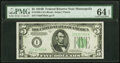 Small Size:Federal Reserve Notes, Fr. 1958-I $5 1934B Federal Reserve Note. PMG Choice Uncir...