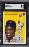 Baseball Cards:Singles (1950-1959), 1954 Topps Willie Mays #90 SGC EX/NM 6. The 1954 b...