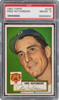 Baseball Cards:Singles (1950-1959), 1952 Topps Fred Hutchinson #126 PSA NM-MT 8. Offer...