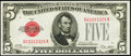 Small Size:Legal Tender Notes, Fancy Serial Number 03333329 Fr. 1525 $5 1928 Legal Tender Note. Choice Crisp Uncirculated.. ...