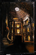 """Movie/TV Memorabilia:Original Art, Beauty and the Beast Matte Painting of """"Chamber of the Winds"""" For Episodes """"Dark Spirit,"""" """"Happy Life,"""" and """"Temptatio..."""