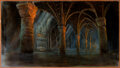 """Movie/TV Memorabilia:Original Art, The Addams Family Matte Painting of """"Grotto Approach to Gate"""" (Paramount, 1991). ..."""