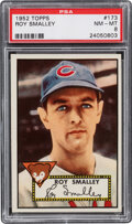Baseball Cards:Singles (1950-1959), 1952 Topps Roy Smalley #173 PSA NM-MT 8 - Only One Higher....
