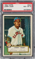 Baseball Cards:Singles (1950-1959), 1952 Topps Larry Doby #243 PSA NM-MT 8. Offered is...