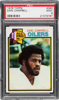 Football Cards:Singles (1970-Now), 1979 Topps Earl Campbell #390 PSA Mint 9. The powe...