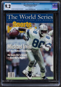 Football Collectibles:Publications, 1993 Michael Irvin Sports Illustrated Cover, CGC 9.2 Pop One With One Higher. ...