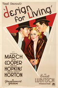 """Movie Posters:Comedy, Design for Living (Paramount, 1933). Very Fine+ on Linen. One Sheet (27"""" X 41"""").. ..."""