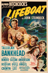 """Lifeboat (20th Century Fox, 1944). Very Fine on Linen. One Sheet (27"""" X 41"""")"""