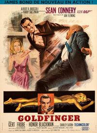 """Goldfinger (United Artists, 1964). Very Fine- on Linen. French Moyenne (22.75"""" X 31"""")"""