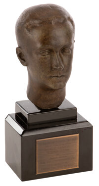 """Jerry Wald 1948 Irving G. Thalberg Award trophy for """"High Quality of Production Achievement"""" (1948)"""