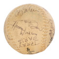 Movie/TV Memorabilia:Autographs and Signed Items, Happy Days Cast Signed Softball with...
