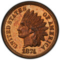 Proof Indian Cents: , 1874 1C PR66 Red and Brown PCGS. PCGS Population: (15/1 and 1/0+). NGC Census: (17/1 and 0/0+). PR66. Mintage 700. ...