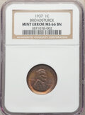 1937 1C Lincoln Cent -- Broadstruck -- MS66 Brown NGC