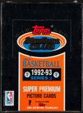 Basketball Cards:Unopened Packs/Display Boxes, 1992-93 Stadium Club Basketball Unopened Series 2 Box With 36 Packs. ...