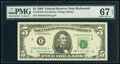 Small Size:Federal Reserve Notes, Fr. 1979-E $5 1988 Federal Reserve Note. PMG Superb Gem Un...
