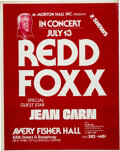 Music Memorabilia:Posters, Redd Foxx Late 1970s Avery Fisher Hall Concert Poster....