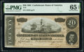 Confederate Notes:1864 Issues, Near Solid Serial Number 44445 T67 $20 1864 PF-14 Cr. 514 PMG Gem Uncirculated 65 EPQ.. ...