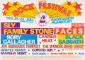Music Memorabilia:Posters, Black Sabbath, Rod Stewart & Faces, Sly & the Family Stone 1971 German Concert Poster....