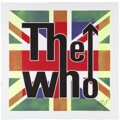 """Music Memorabilia:Autographs and Signed Items, Pete Townshend Signed """"The Who"""" Art Canvas...."""
