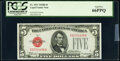 Small Size:Legal Tender Notes, Fr. 1527 $5 1928B Legal Tender Note. PCGS Gem New 66PPQ.