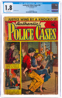 Authentic Police Cases #38 (St. John, 1955) CGC GD- 1.8 Off-white pages