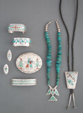 American Indian Art:Jewelry and Silverwork, Eight Navajo Jewelry Items... (Total: 8 )