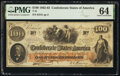 Confederate Notes:1862 Issues, T41 $100 1862 PF-6 Cr. 319 PMG Choice Uncirculated 64.. ...