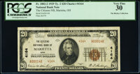Marietta, OH - $20 1929 Ty. 2 The Citizens National Bank Ch. # 4164 PCGS Very Fine 30