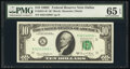Small Size:Federal Reserve Notes, Fr. 2021-K* $10 1969C Federal Reserve Star Note. PMG Gem U...