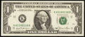Small Size:Federal Reserve Notes, Fancy Serial Number 61100116 Fr. 1911-K $1 1981 Federal Re...