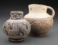 American Indian Art:Pottery, Two Anasazi Black-On-White Items... (Total: 2 )