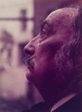 Photographs, Marc Lacroix (French, 1927-2007). Dali in Profile, circa 1971. Dye bleach, printed later. 22-3/4 x 17 inches (57.8 x 43....