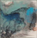 Paintings, Attributed to Zhang Daqian (Chinese, 1899-1983). Landscape. Ink on paper. 7-3/4 x 7-3/4 inches (19.7 x 19.7 cm)(work). C...