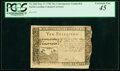 North Carolina May 17, 1783 10s Contemporary Counterfeit PCGS Extremely Fine 45