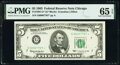 Small Size:Federal Reserve Notes, Low Serial Number 7707 Fr. 1967-G* $5 1963 Federal Reserve...