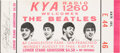 Music Memorabilia:Tickets, The Beatles Candlestick Park Concert Ticket (August 29th,1966)....