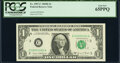 Small Size:Federal Reserve Notes, Low Serial Number 60 Fr. 1907-C $1 1969D Federal Reserve N...