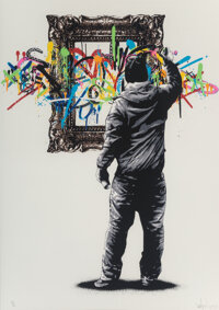 Martin Whatson (b. 1984) Framed, 2013 Screenprint in colors on Somerset paper 27-1/2 x 19-3/4 inches (69.9 x 50.1 cm)