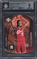 Basketball Cards:Singles (1980-Now), 2003 Upper Deck Standing O! LeBron James (Rookies Embossed-Gold Die-Cut) #85 BGS Mint 9....