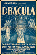 """Movie Posters:Horror, Dracula (Spanish-Language Version) (Universal, 1931). Folded, Fine+. Argentinean One Sheet (29"""" X 43.5"""").. ..."""