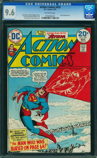 Action Comics #433 (DC, 1974) CGC NM+ 9.6 OFF-WHITE pages