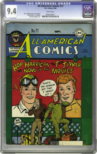 All-American Comics #77 (DC, 1946) CGC NM 9.4 WHITE pages