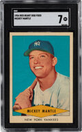 Baseball Cards:Singles (1950-1959), 1954 Red Heart Mickey Mantle # SGC NM 7. While thi...