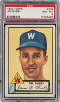 Baseball Cards:Singles (1950-1959), 1952 Topps Jim Busby #309 PSA NM-MT 8. Offered is ...